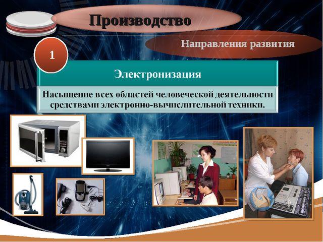 Производство Направления развития 1 LOGO