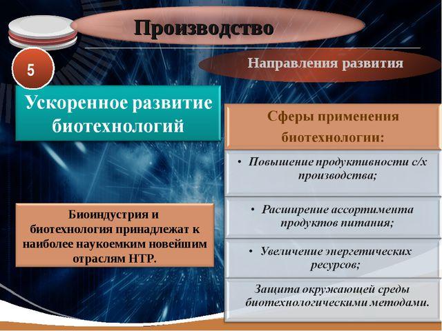 Производство Направления развития 5 LOGO