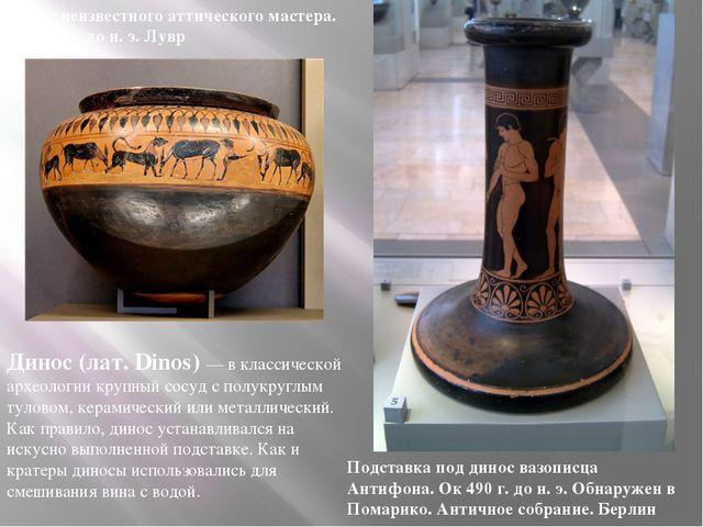 Динос (лат. Dinos) — в классической археологии крупный сосуд с полукруглым ту...