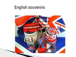 English souvenirs