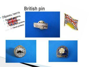 British pin