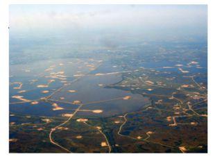 Озеро Самотлор, расположенное на востокеХанты-Мансийского автономного округ