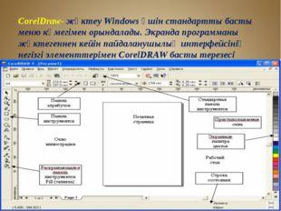 CorelDraw- жүктеу Windows үшін стандартты басты меню көмегімен орындалады. Эк