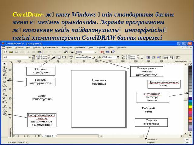 CorelDraw- жүктеу Windows үшін стандартты басты меню көмегімен орындалады. Эк...