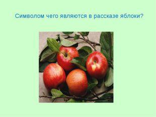 Символом чего являются в рассказе яблоки?