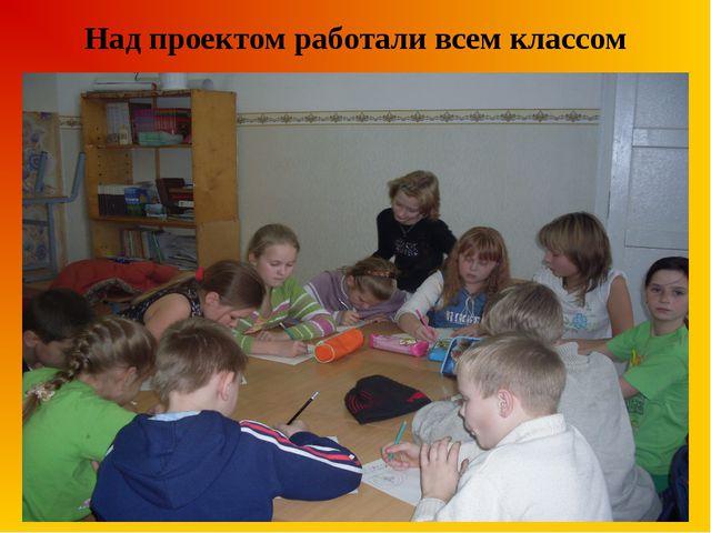 Над проектом работали всем классом