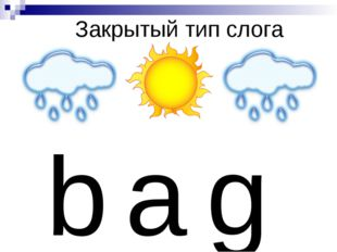 Закрытый тип слога b a g