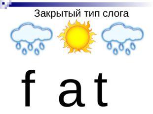 Закрытый тип слога f a t