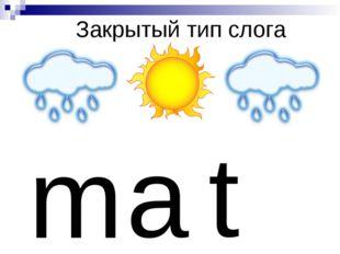 Закрытый тип слога m a t