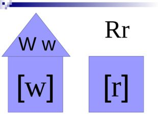 [w] [r] Rr W w