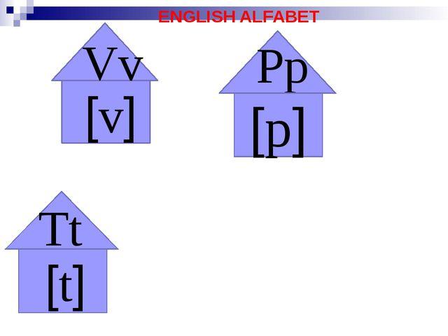 ENGLISH ALFABET Vv [v] [t] Tt Pp [p]