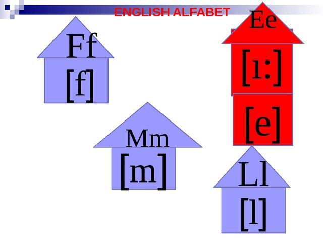 ENGLISH ALFABET Ff [f] Ll [l] [m] Mm [ı:] Ee [e]