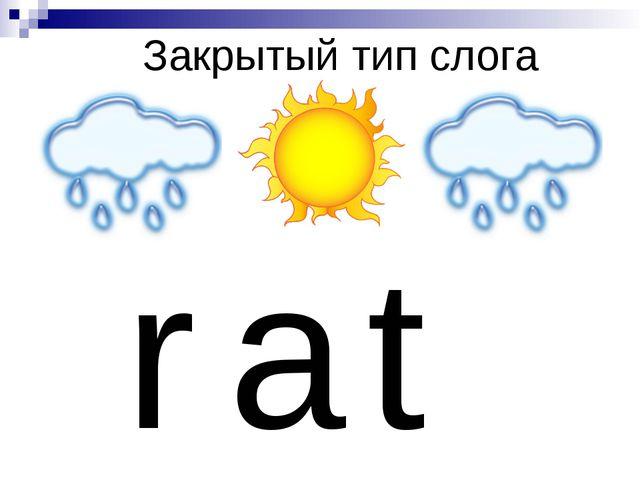 Закрытый тип слога r a t