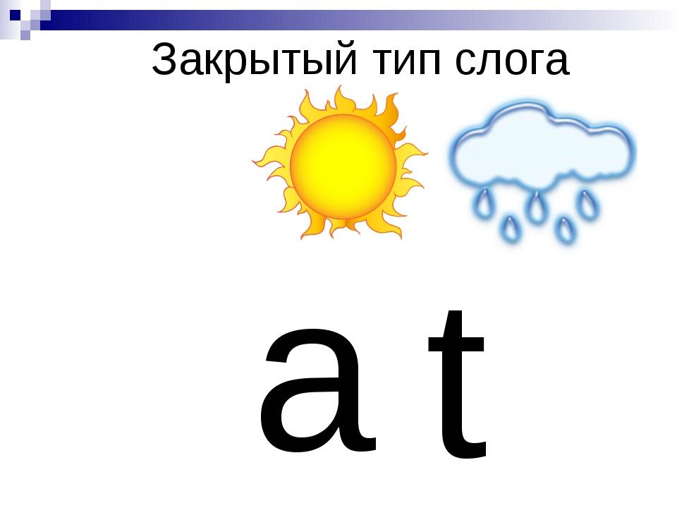 Закрытый тип слога a t