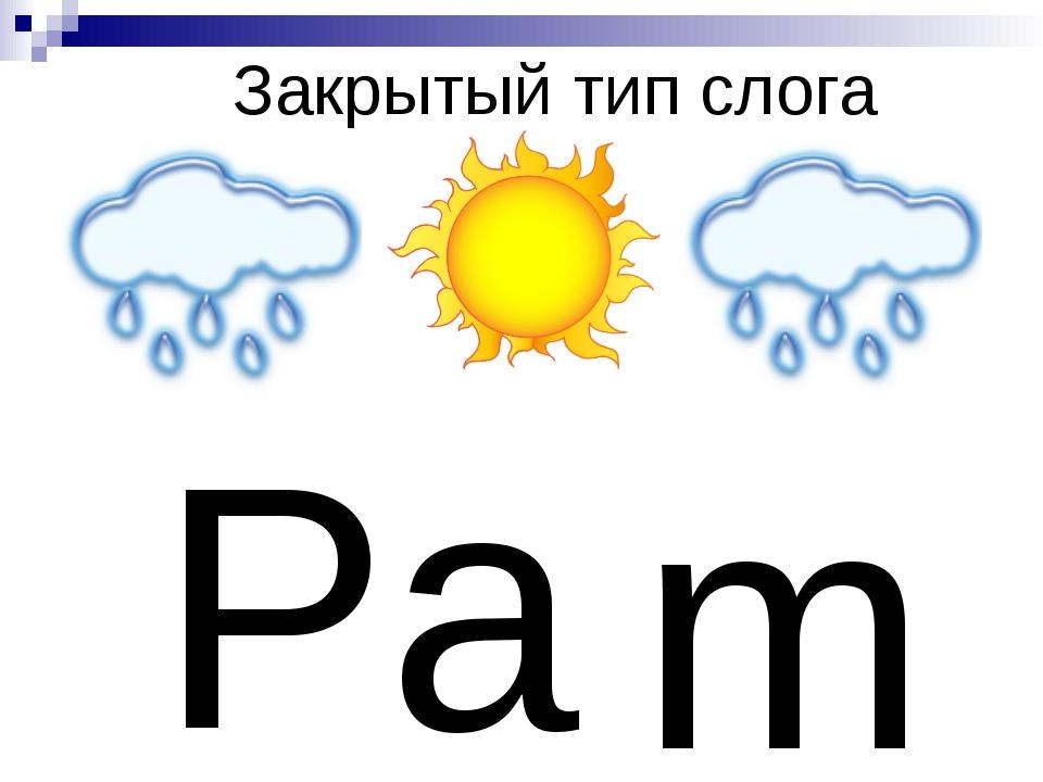 Закрытый тип слога P a m