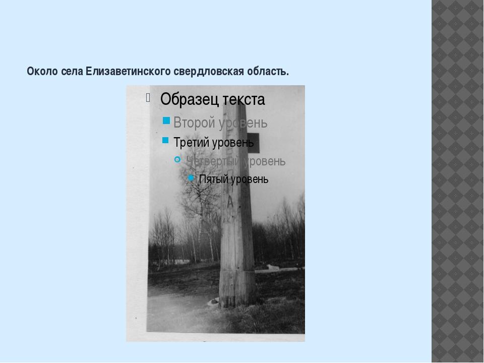 Около села Елизаветинского свердловская область.
