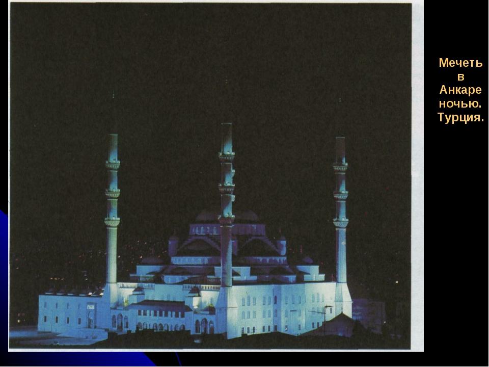 Мечеть в Анкаре ночью. Турция.