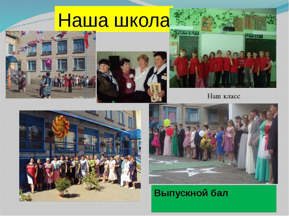 . Выпускной бал Наша школа Наш класс