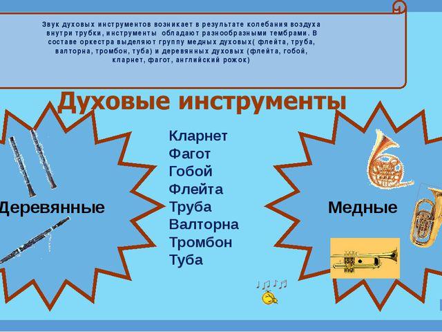 Деревянные Медные Кларнет Фагот Гобой Флейта Труба Валторна Тромбон Туба