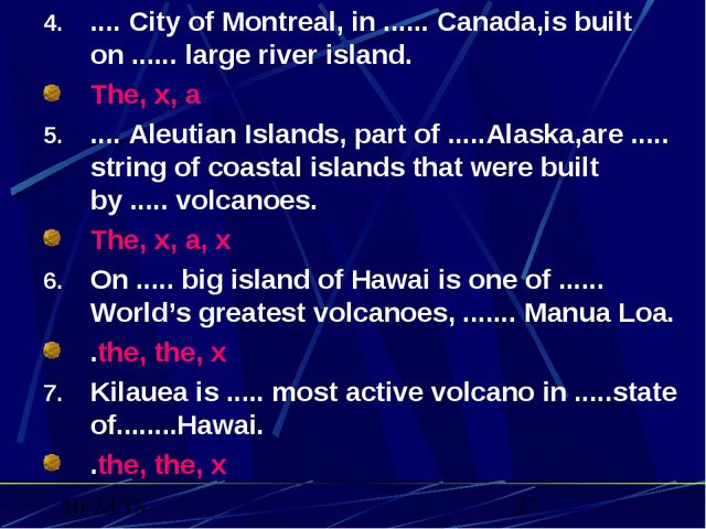 .... City of Montreal, in ...... Canada,is built on ...... large river island...