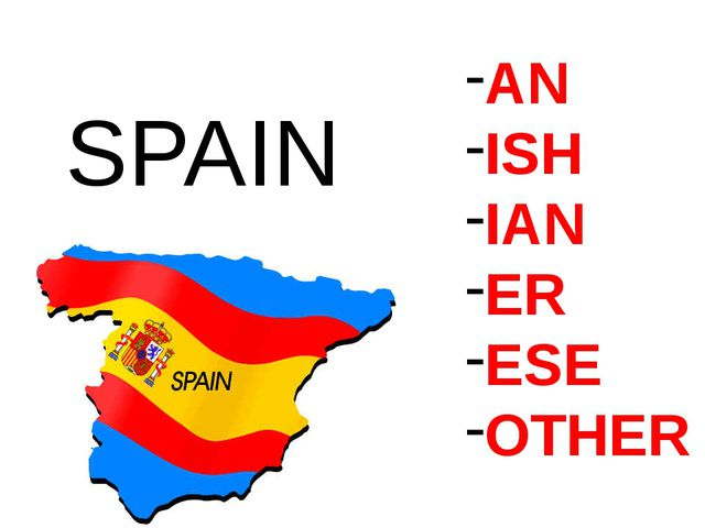 AN ISH IAN ER ESE OTHER SPAIN