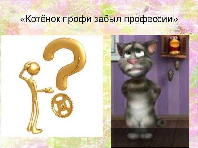 «Котёнок профи забыл профессии»