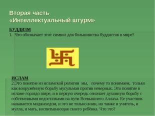 Вторая часть «Интеллектуальный штурм» БУДДИЗМ 1. Что обозначает этот символ д