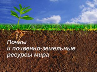Почвы и почвенно-земельные ресурсы мира 8 класс