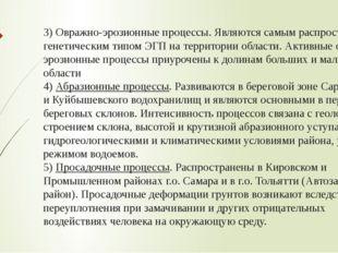 3) Овражно-эрозионныепроцессы.Являются самым распространенным генетическим