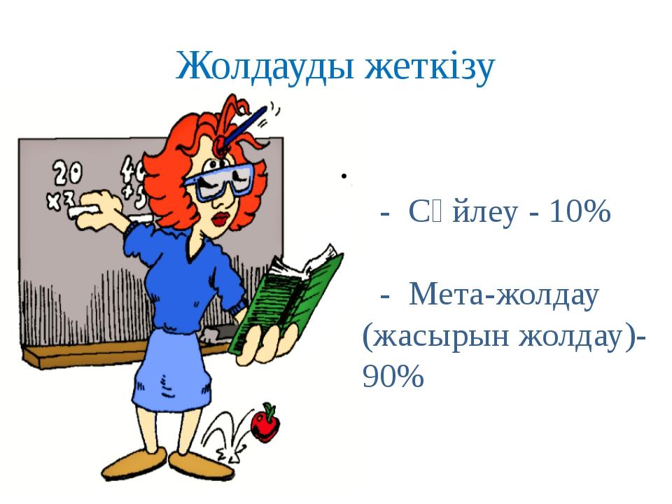 Жолдауды жеткізу - Сөйлеу - 10% - Мета-жолдау (жасырын жолдау)-90%