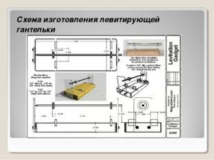 Схема изготовления левитирующей гантельки