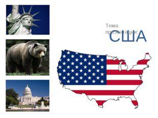 США Тема презентации: