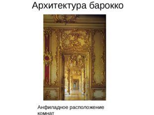 Архитектура барокко Анфиладное расположение комнат