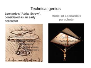 """Technical genius Leonardo's """"Aerial Screw"""", considered as an early helicopter"""
