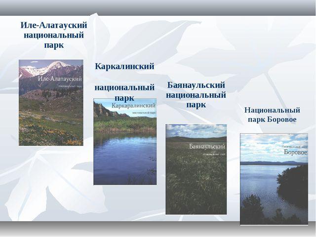 Иле-Алатауский национальный парк Баянаульский национальный парк Каркалинский...