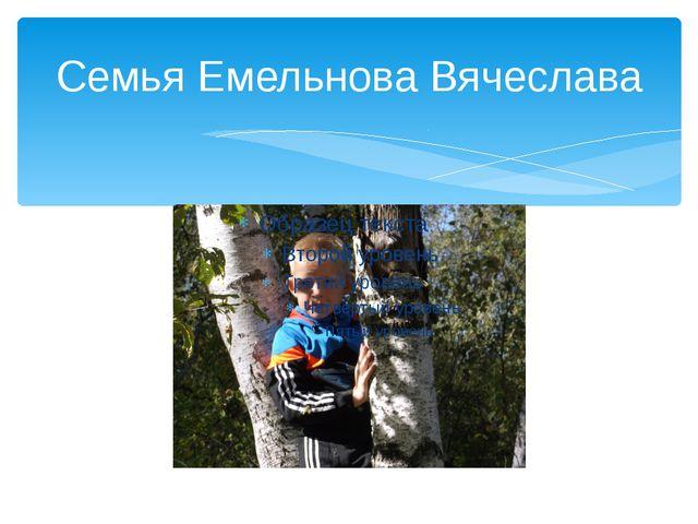 Семья Емельнова Вячеслава