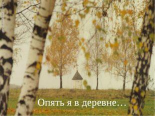 Опять я в деревне…