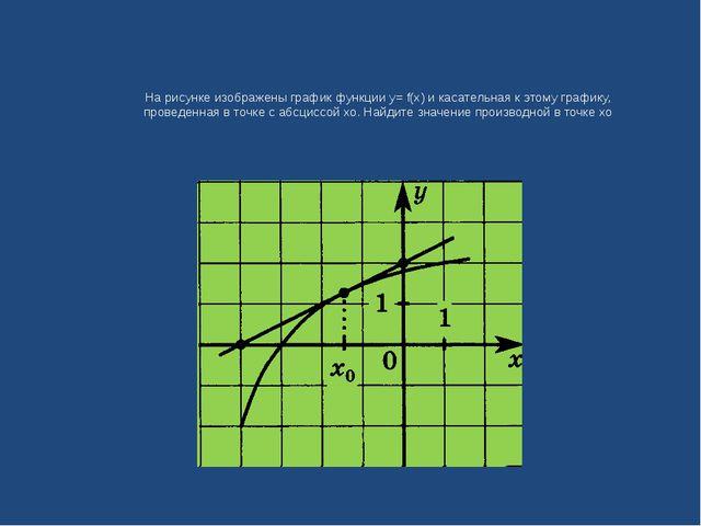 На рисунке изображены график функции у= f(x) и касательная к этому графику, п...