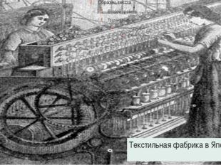 Текстильная фабрика в Японии.