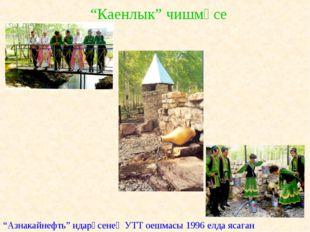 """""""Каенлык"""" чишмәсе """"Азнакайнефть"""" идарәсенең УТТ оешмасы 1996 елда ясаган"""