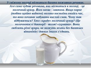 У свіжому молоці міститься багато поживних речовин. Але сама чудове речовина,