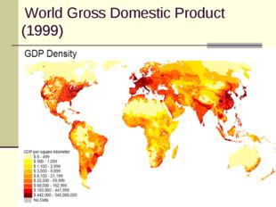 World Gross Domestic Product (1999)