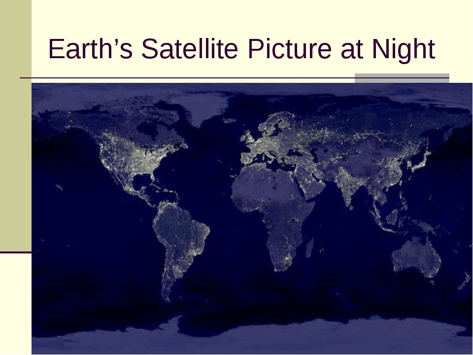 Earth's Satellite Picture at Night