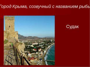 Судак Город Крыма, созвучный с названием рыбы