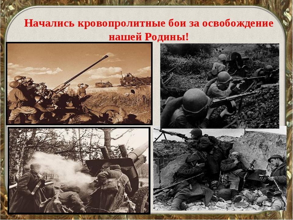 Начались кровопролитные бои за освобождение нашей Родины!