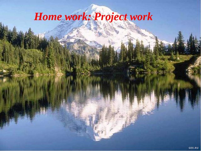 Home work: Project work