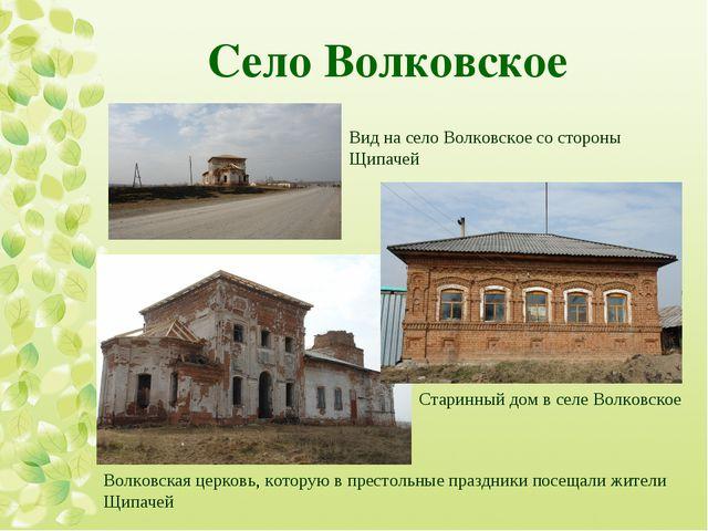 Село Волковское  Вид на село Волковское со стороны Щипачей Старинный дом в с...