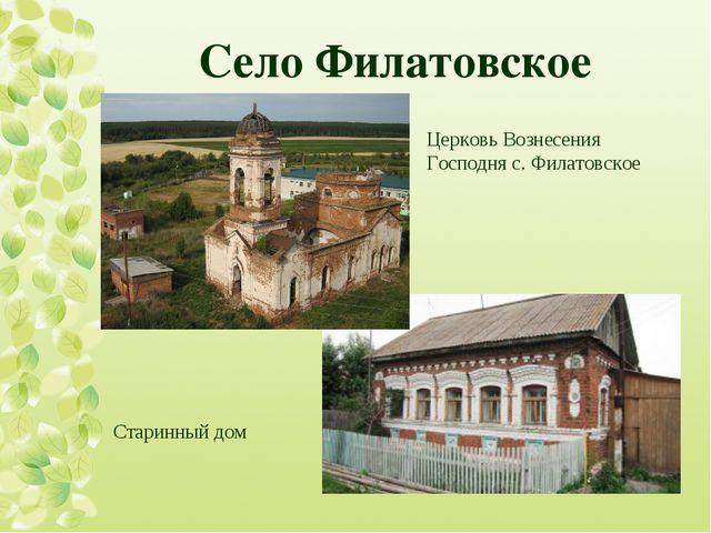 Село Филатовское  Церковь Вознесения Господня с. Филатовское Старинный дом