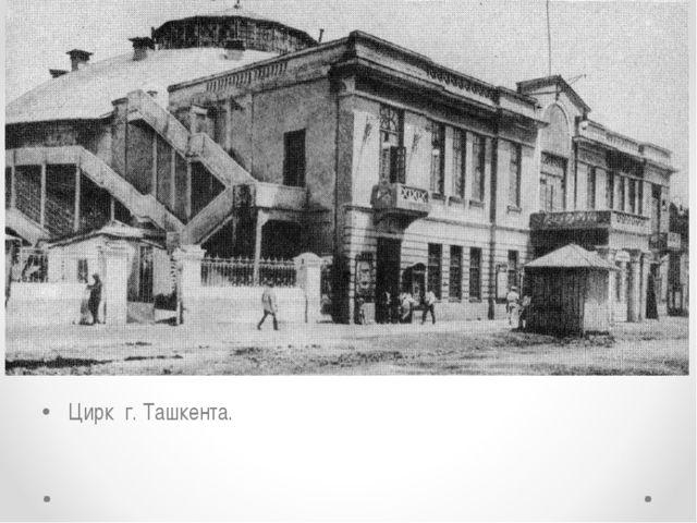 Цирк г. Ташкента.