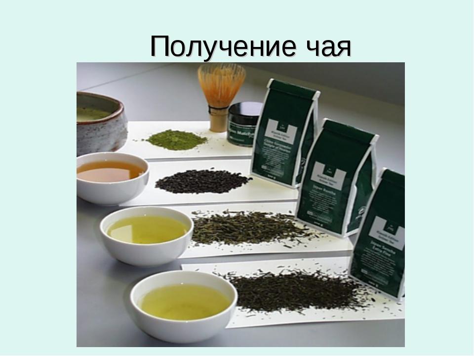 Получение чая